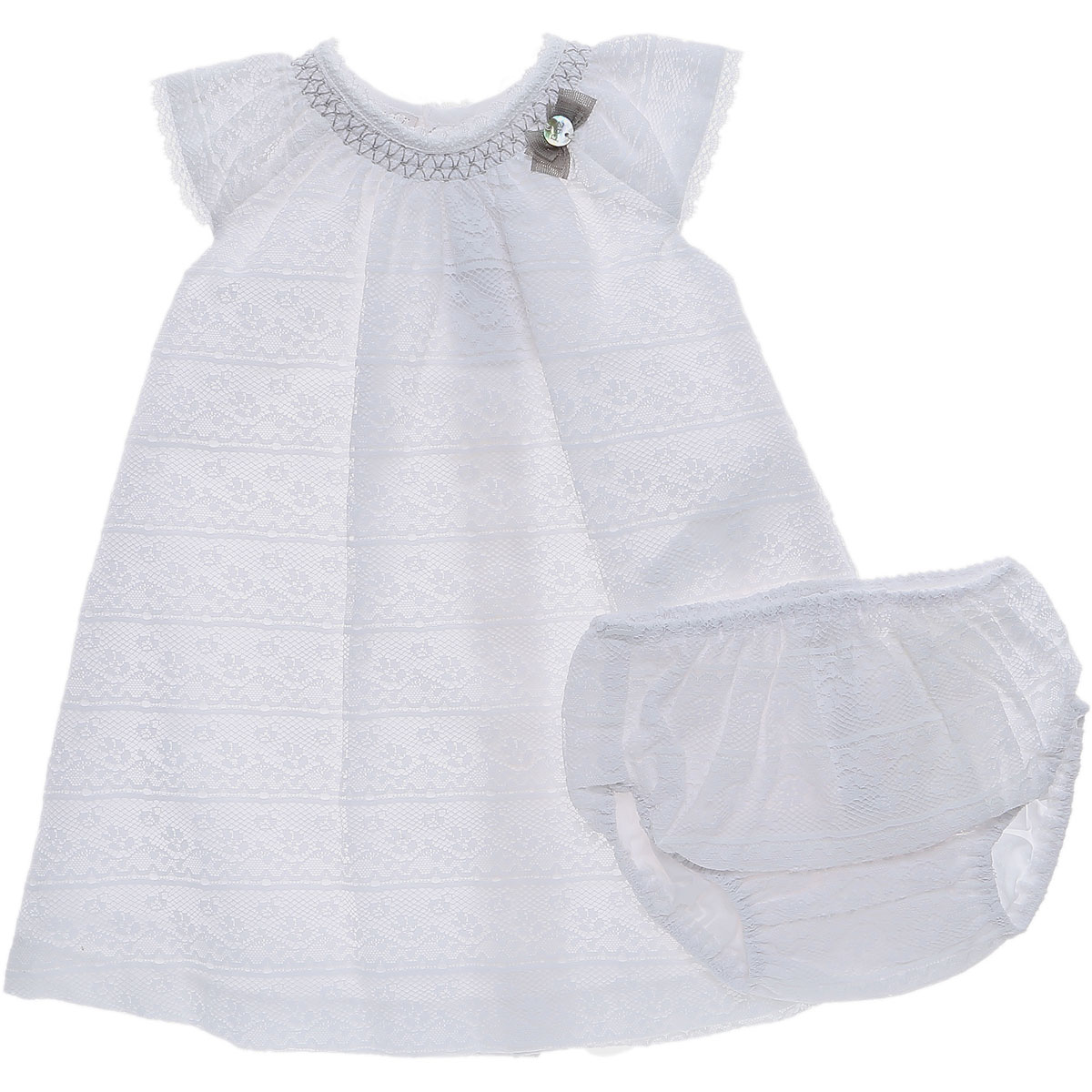 Image of Paz Rodriguez Baby Sets for Girls On Sale in Outlet, White, Cotton, 2017, 12M 12M
