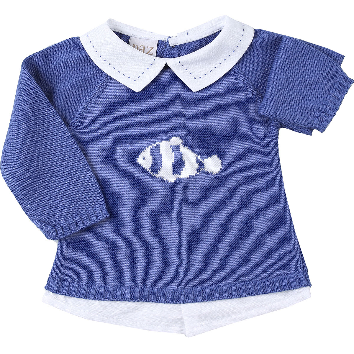 Paz Rodriguez Baby Sweaters for Boys On Sale, Blue, Cotton, 2019, 3M 9M