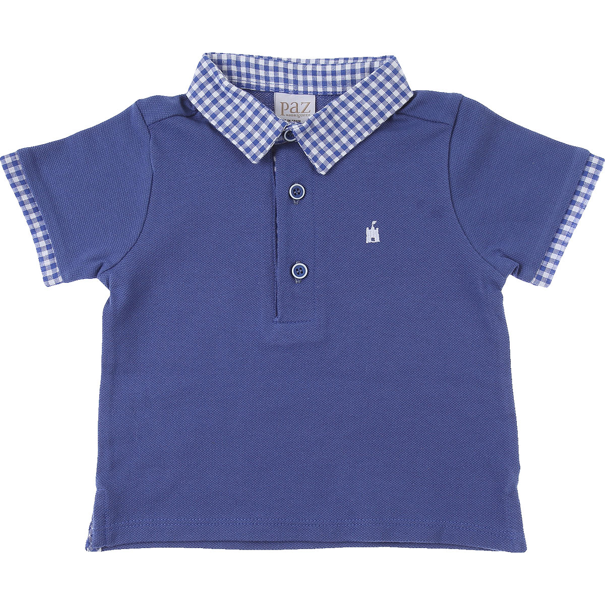 Paz Rodriguez Baby Polo Shirt for Boys On Sale, Blue, Cotton, 2019, 12 M 2Y