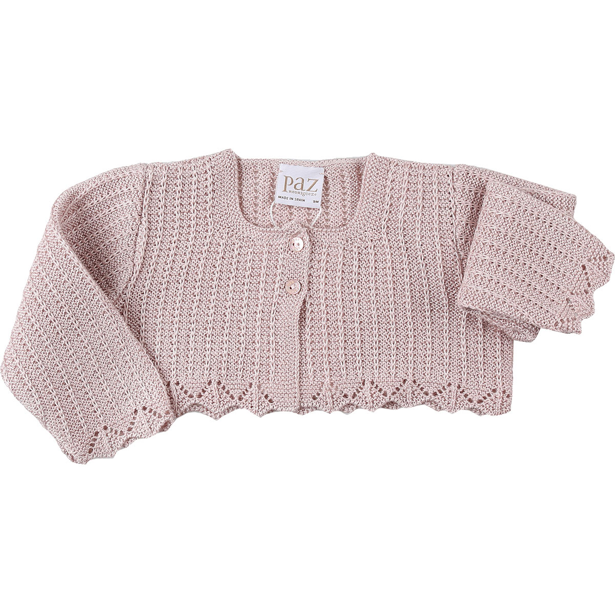 Paz Rodriguez Baby Sweaters for Girls On Sale, Antic Rose, Cotton, 2019, 6M 9M