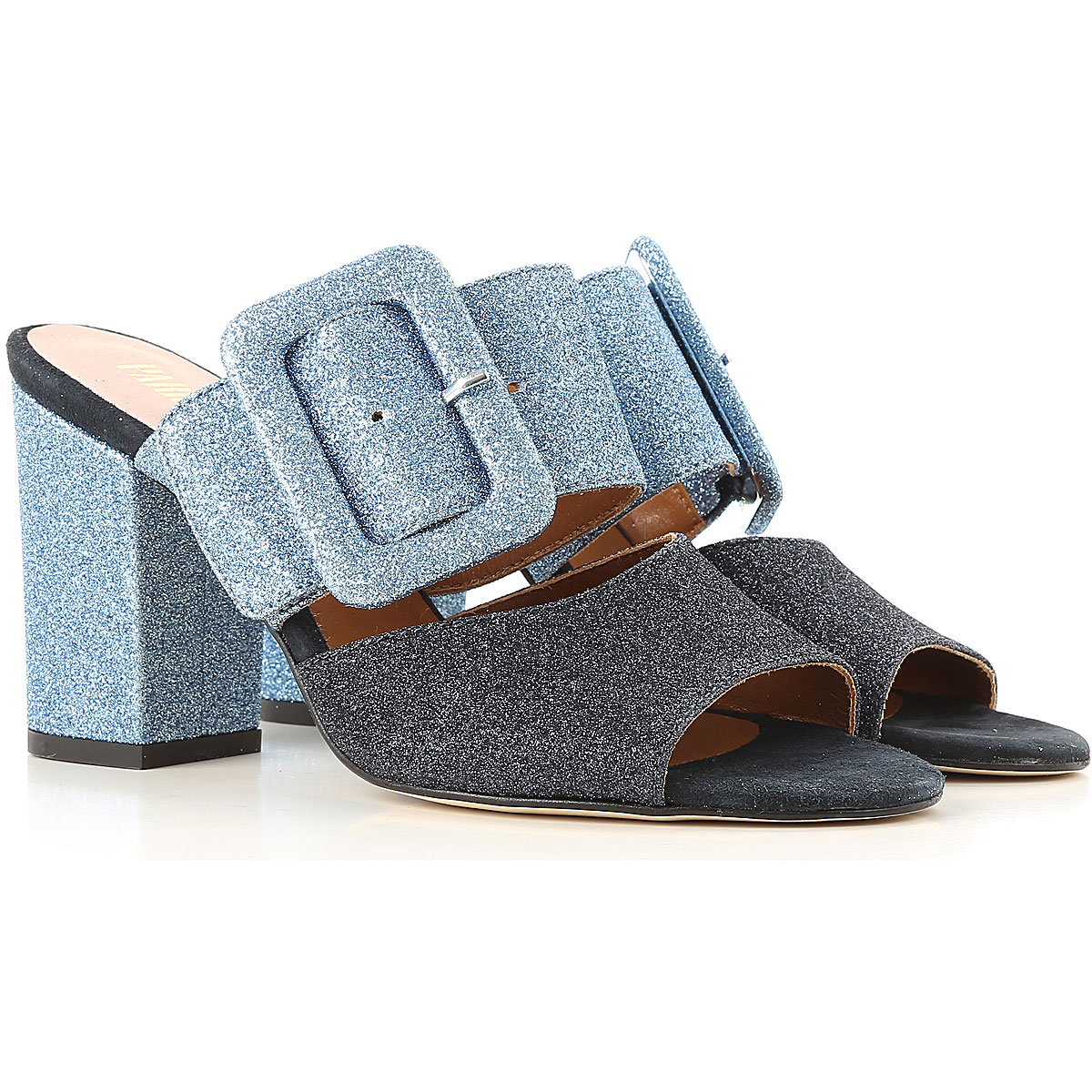 Image of Paris Texas Sandals for Women, Blue, Glittered, 2017, 10 6 7 8 8.5