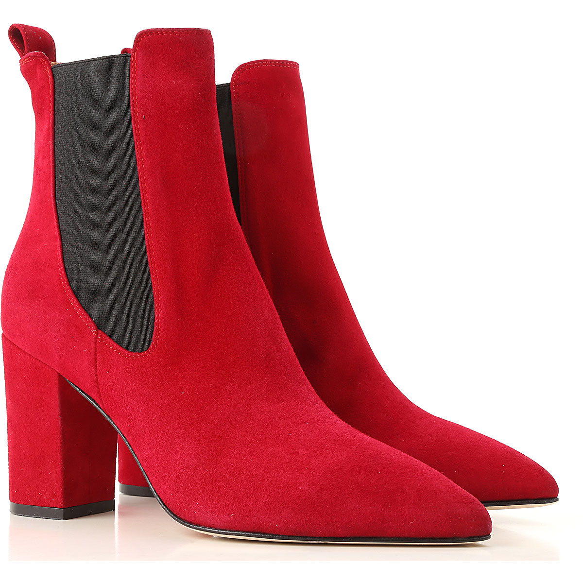Image of Paris Texas Boots for Women, Booties, Flame Red, Suede leather, 2017, 10 6 7 8 8.5 9.5