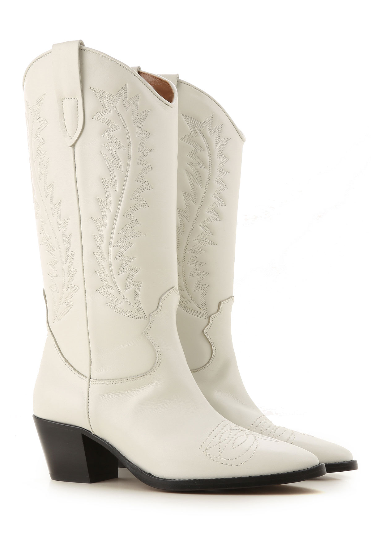 Paris Texas Boots for Women, Booties On Sale in Outlet, White, Leather, 2019, 6 7
