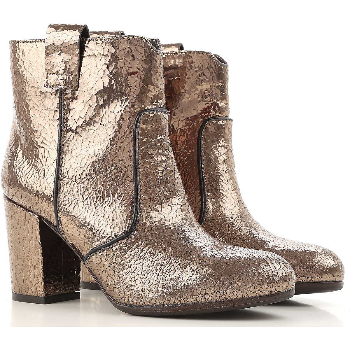 Image of Paris Texas Boots for Women, Booties On Sale in Outlet, Gunmetal, lame, 2017, 5.5 6.5 7 8.5