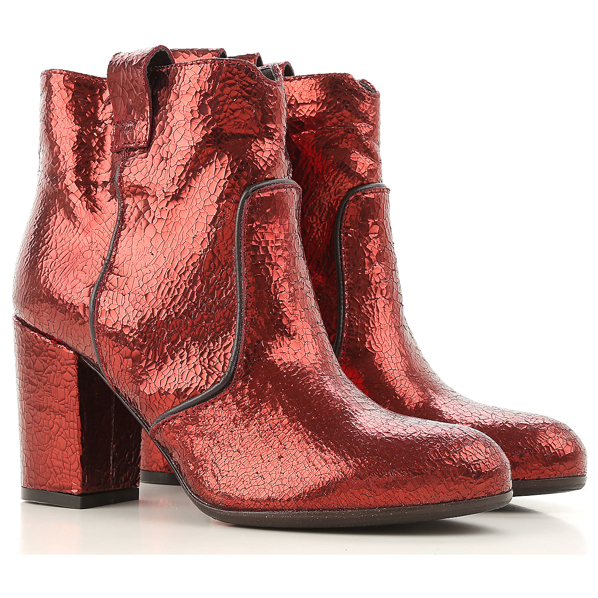 Image of Paris Texas Boots for Women, Booties On Sale in Outlet, Rust, lame, 2017, 5.5 6 6.5 9