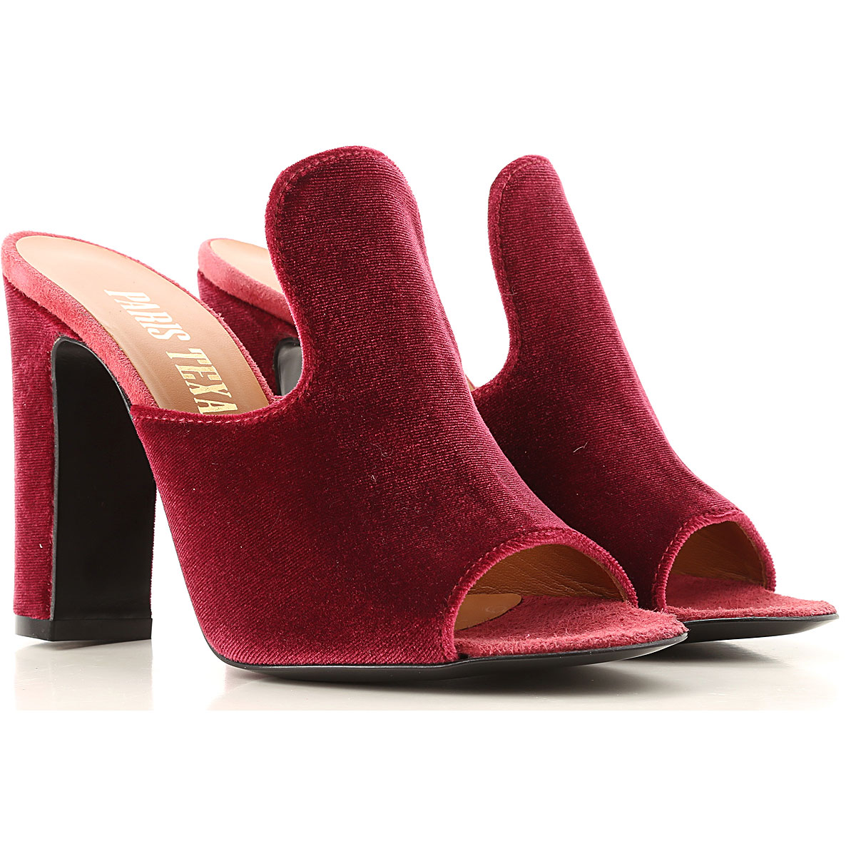 Paris Texas Peep Toe Open Shoes & Heels On Sale in Outlet, Cherry, Velvet, 2019, 10 6 8