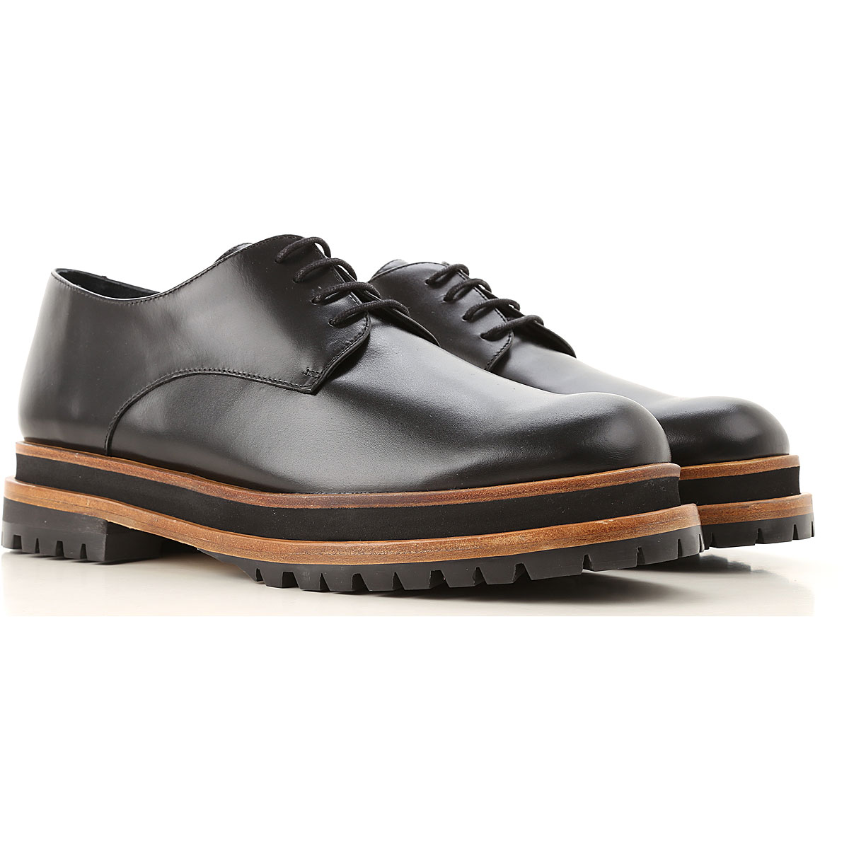 Paloma Barcelo Lace Up Shoes for Men Oxfords, Derbies and Brogues On Sale, Black, Leather, 2019, 10 6 7 8 9