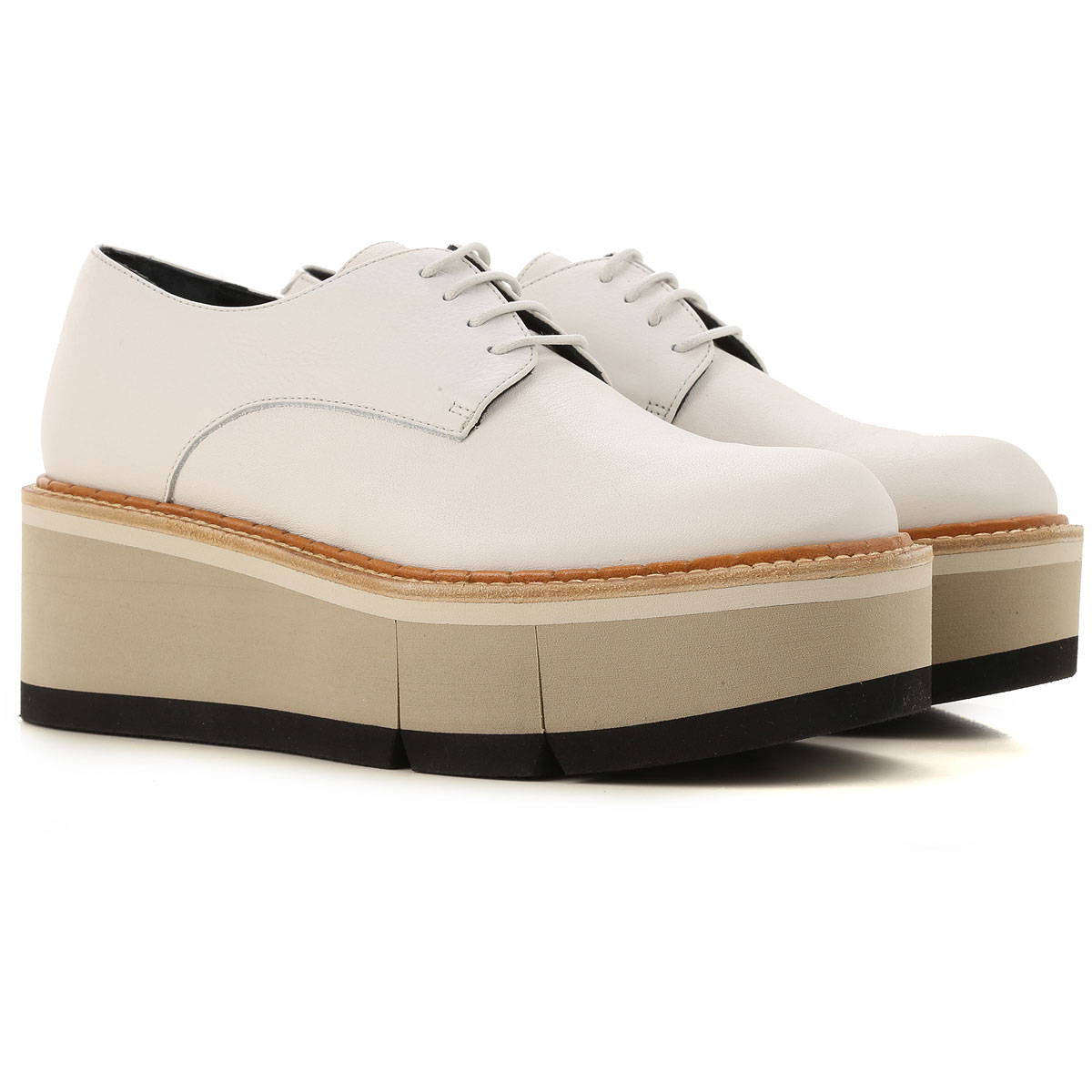 Paloma Barcelo Lace Up Shoes for Men Oxfords, Derbies and Brogues On Sale, Chalk, Leather, 2019, 10 5 7 8 9