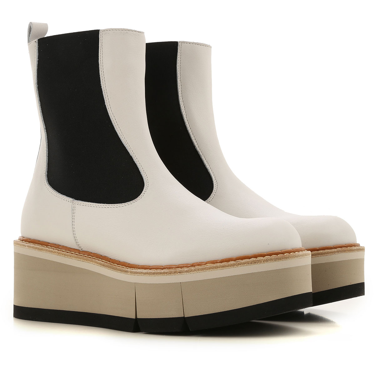 Paloma Barcelo Boots for Women, Booties On Sale, White, Leather, 2019, 10 5 7 8