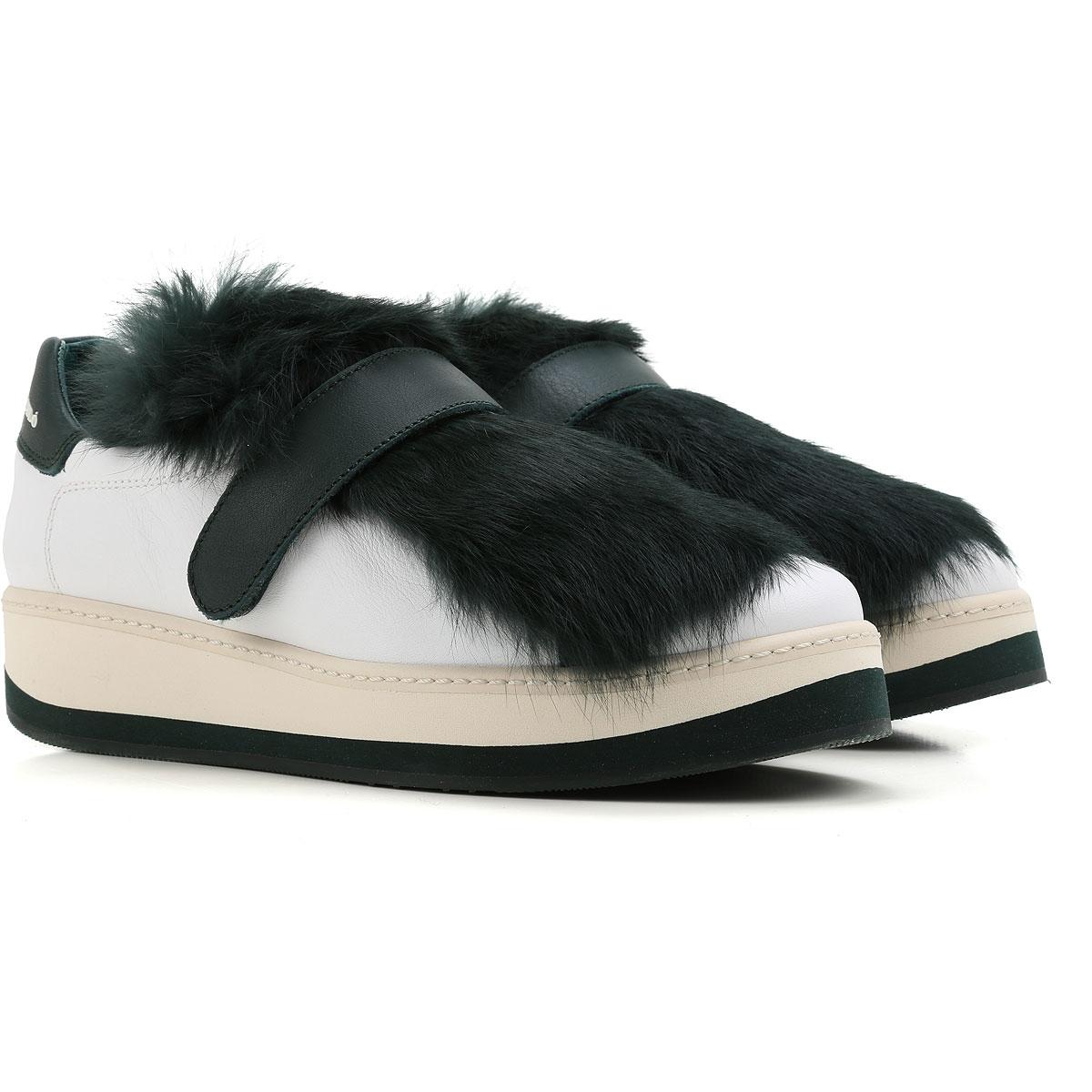 Paloma Barcelo Sneaker Femme Pas cher en Soldes, Blanc, Cuir, 2017, 36 37 38 40