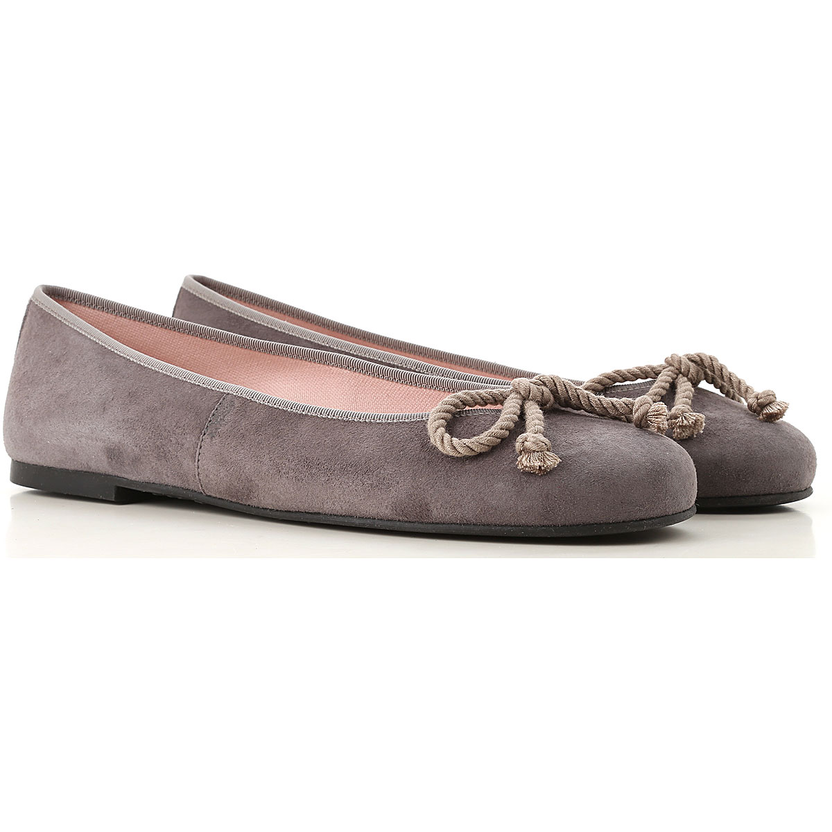 Image of Pretty Ballerinas Ballet Flats Ballerina Shoes for Women, Grey, Suede leather, 2017, 10 6 7 8