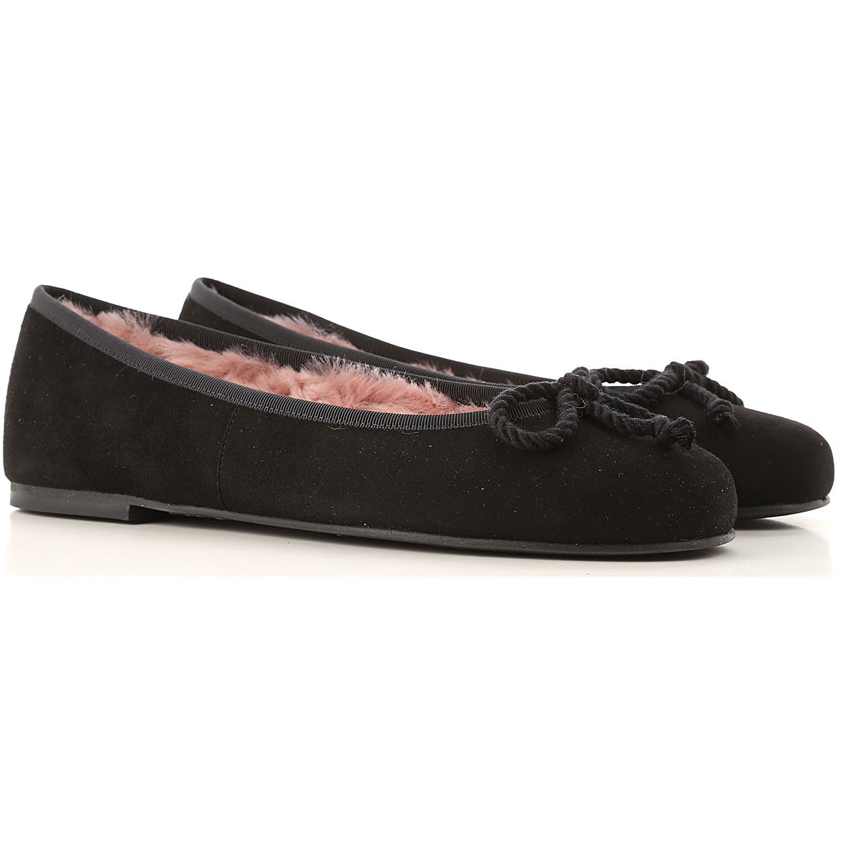 Image of Pretty Ballerinas Ballet Flats Ballerina Shoes for Women, Black, Suede leather, 2017, 7 8 9