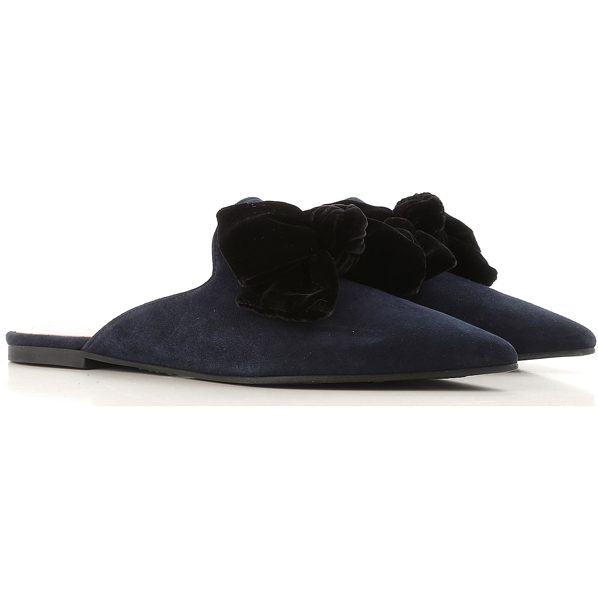 Image of Pretty Ballerinas Ballet Flats Ballerina Shoes for Women On Sale in Outlet, Dark Blue, Calfskin Leather, 2017, 11 8.5 9
