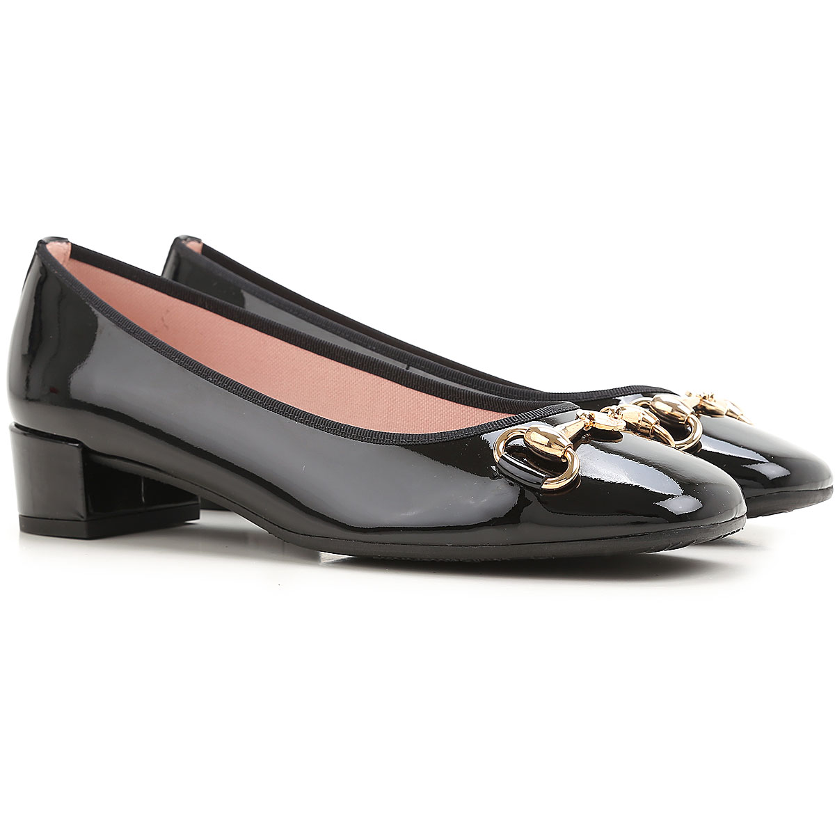 Image of Pretty Ballerinas Pumps & High Heels for Women On Sale in Outlet, Black, Patent Leather, 2017, 7 8