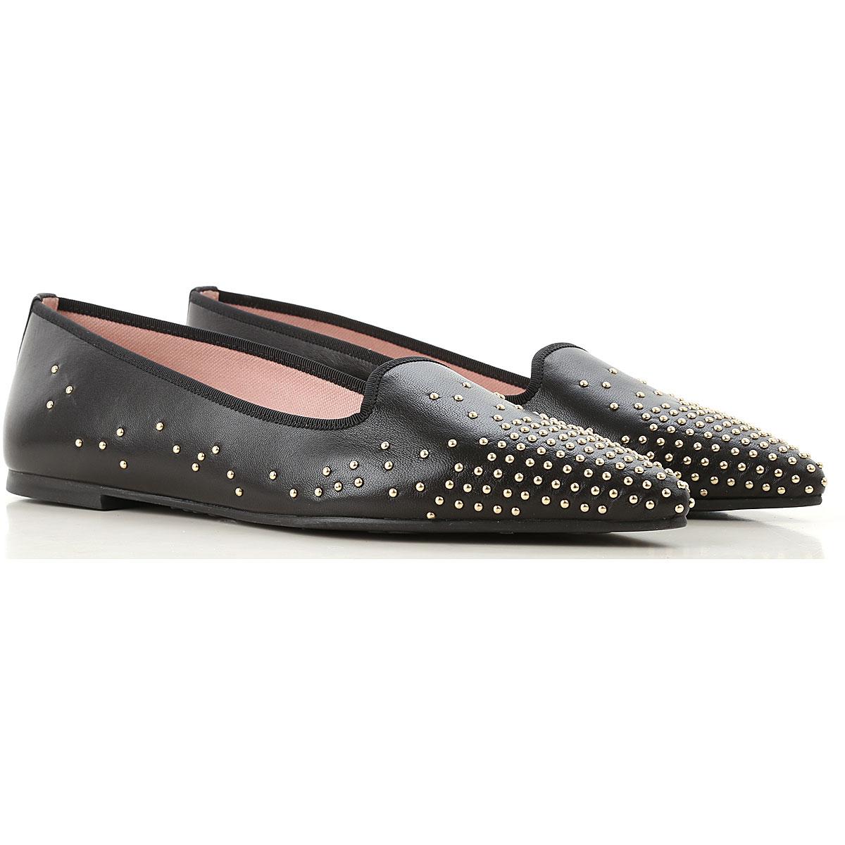 Image of Pretty Ballerinas Ballet Flats Ballerina Shoes for Women, Black, Leather, 2017, 6 7 8 9