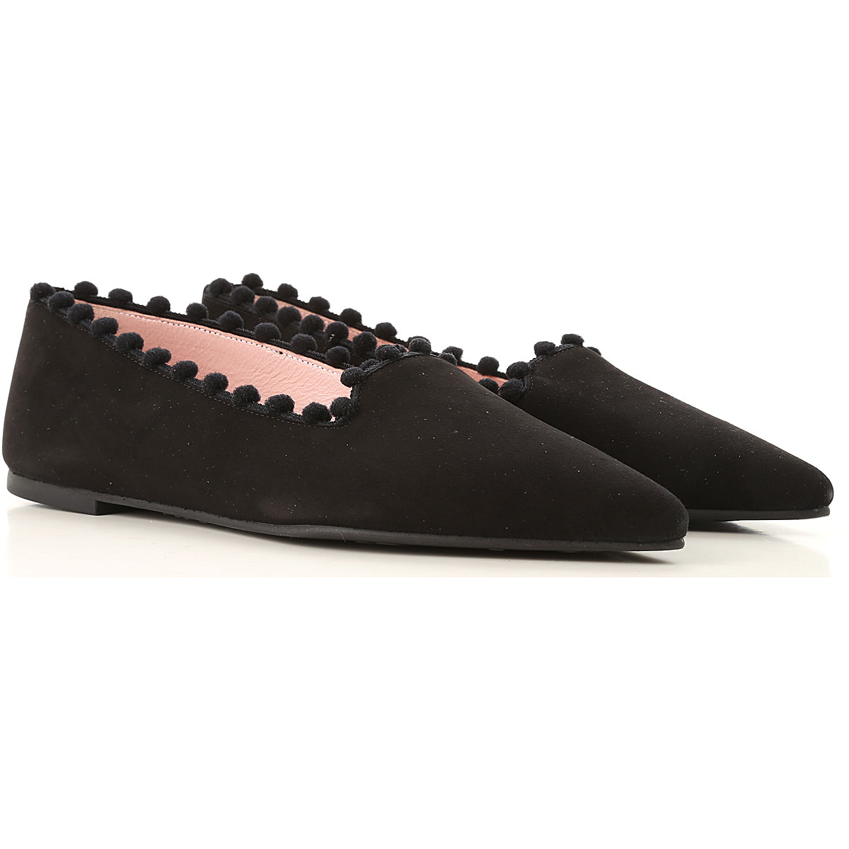 Image of Pretty Ballerinas Ballet Flats Ballerina Shoes for Women, Black, Suede leather, 2017, 6 7 8 9