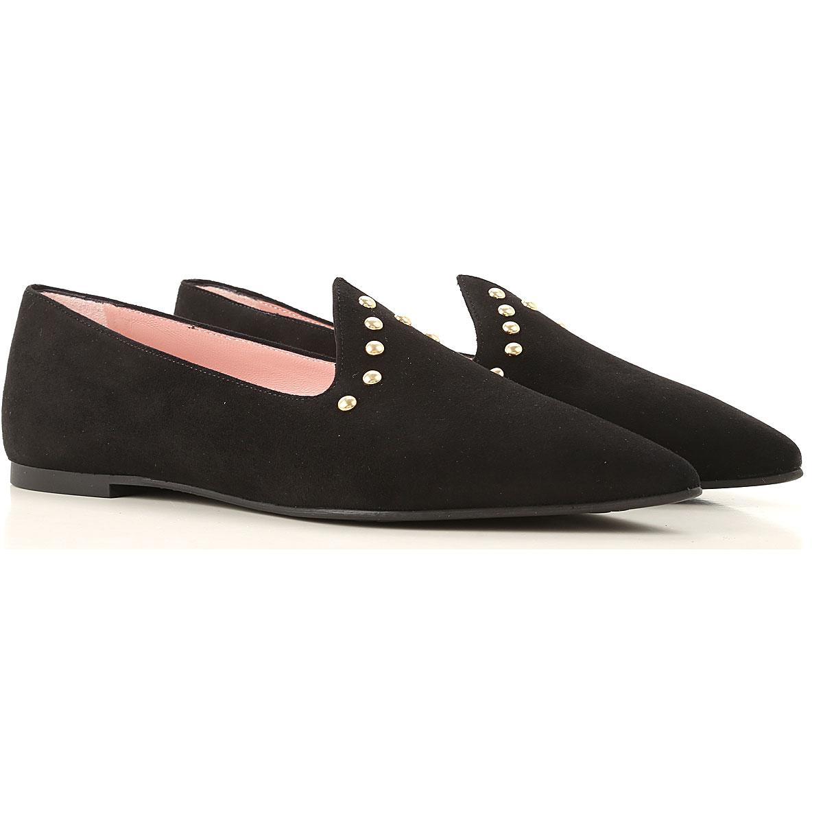 Pretty Ballerinas Ballet Flats Ballerina Shoes for Women On Sale, Black, Leather, 2019, 10 6 8 9