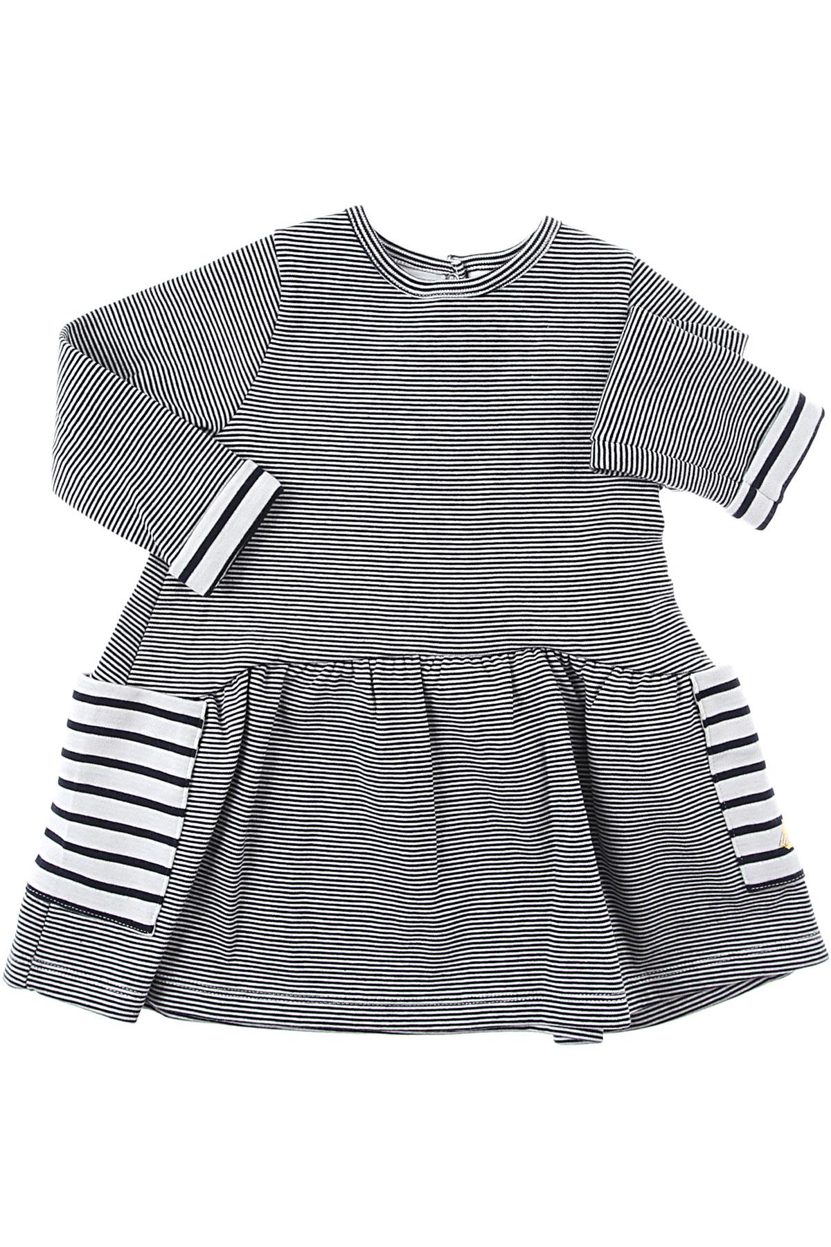 Petit Bateau Baby Dress for Girls On Sale, Blue, Cotton, 2019, 12M 18M 2Y