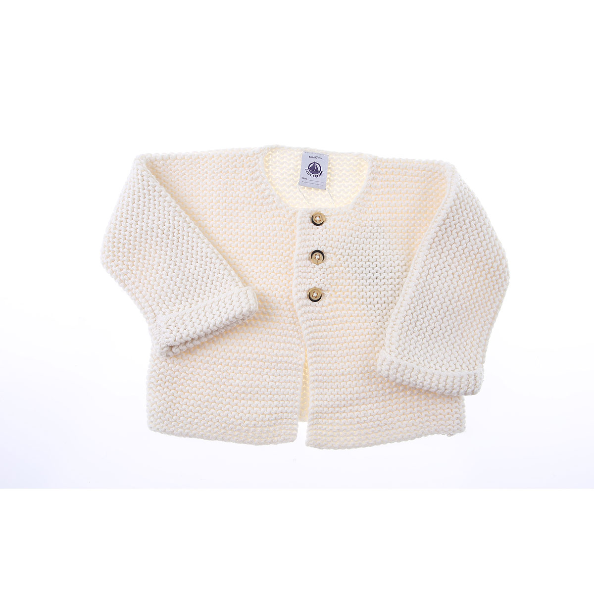 Petit Bateau Baby Sweaters for Girls On Sale, Marshmallow, Cotton, 2019, 18M 2Y 6M