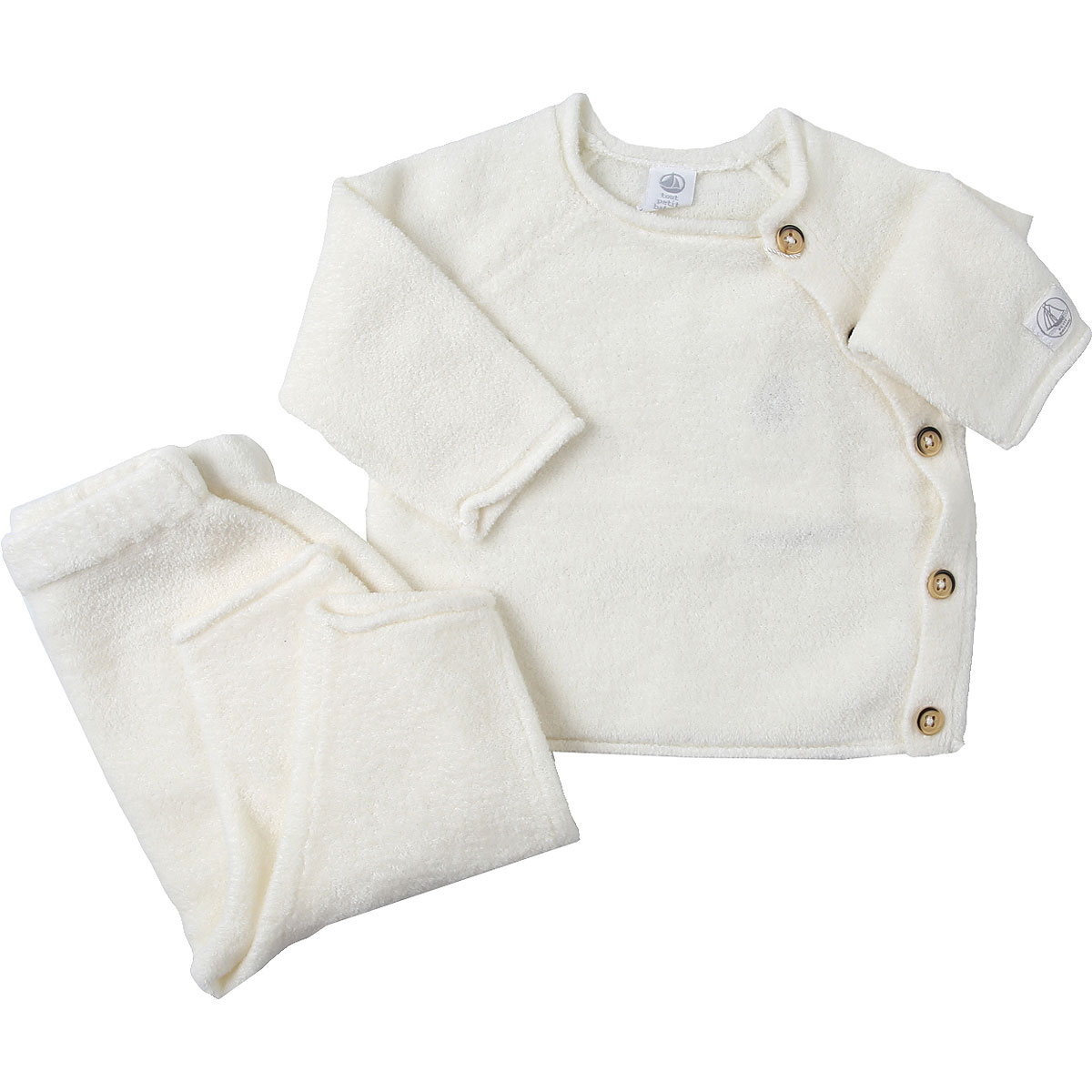 Petit Bateau Baby Sweaters for Girls On Sale, Marshmallow, Cotton, 2019, 1M 3M