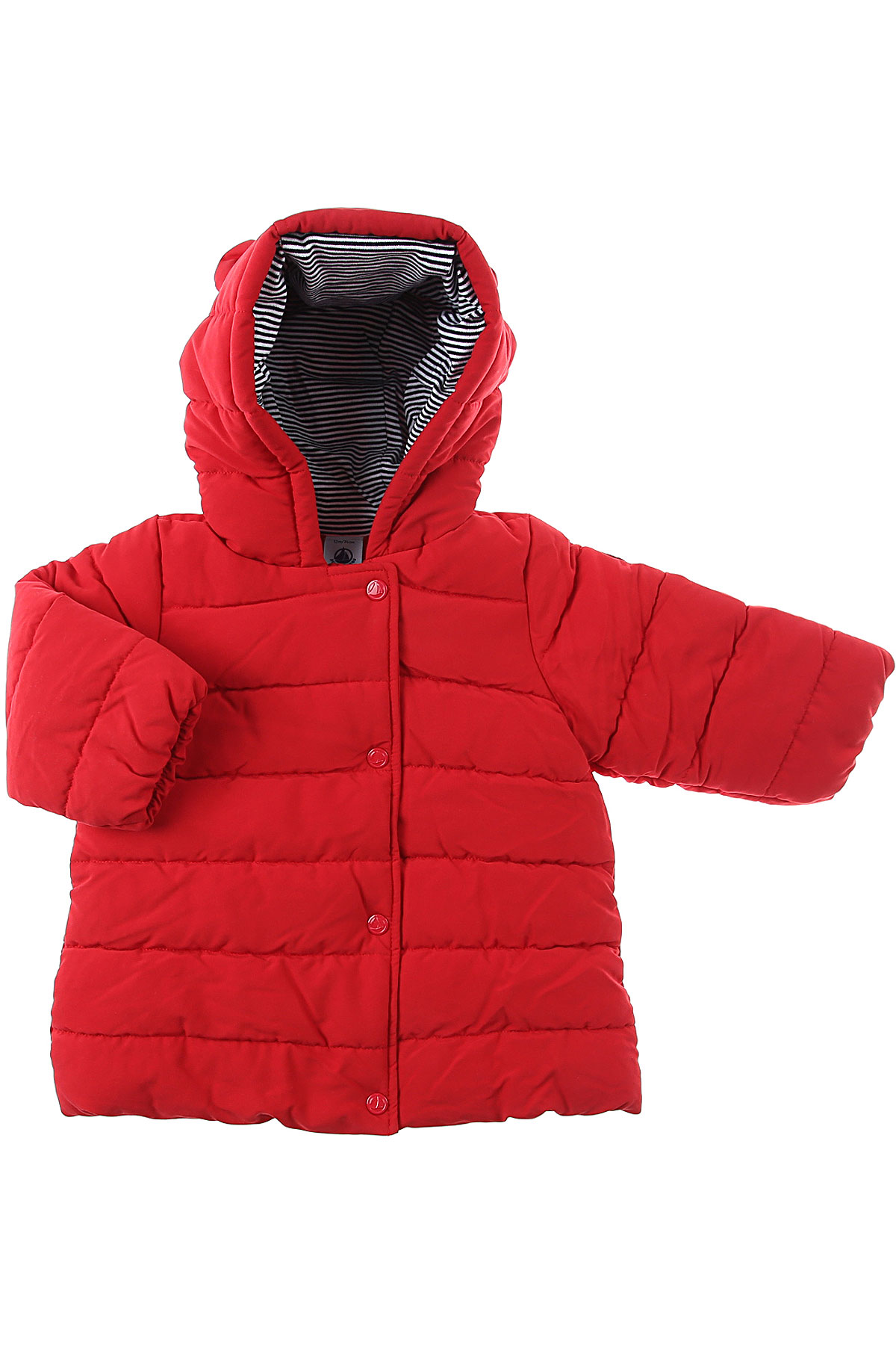 Petit Bateau Baby Down Jacket for Girls On Sale, Red, polyester, 2019, 12M 18M 6M