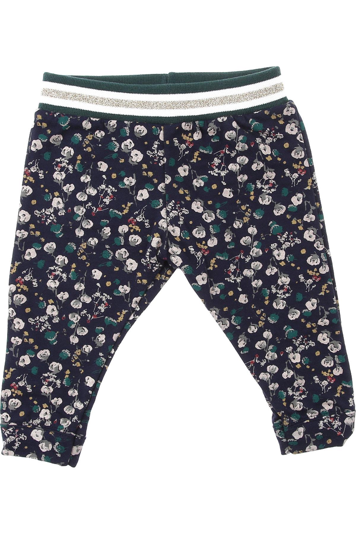 Petit Bateau Baby Sweatpants for Girls On Sale, Dark Blue, Cotton, 2019, 18M 2Y 6M