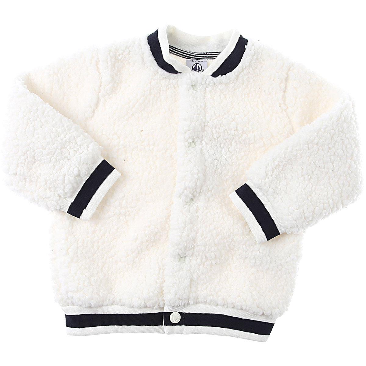 Petit Bateau Baby Sweatshirts & Hoodies for Girls On Sale, White, polyester, 2019, 12M 6M