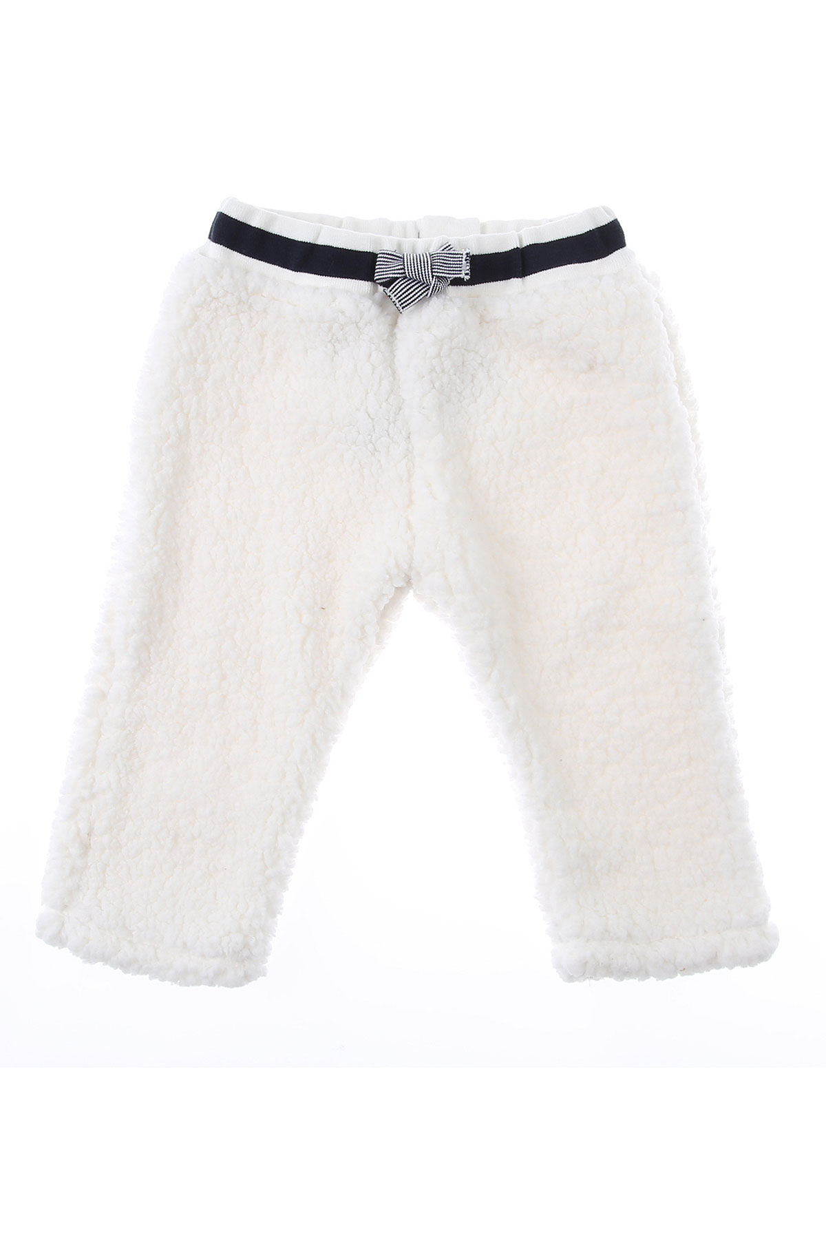 Petit Bateau Baby Sweatpants for Girls On Sale, Marshmallow, polyester, 2019, 12M 2Y 6M