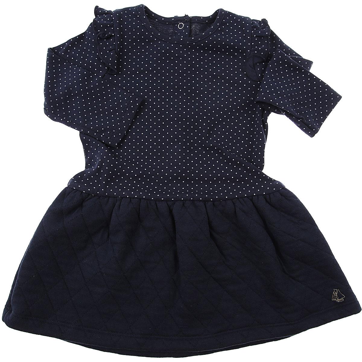 Petit Bateau Baby Dress for Girls On Sale, Blue, Cotton, 2019, 12M 18M 2Y 6M