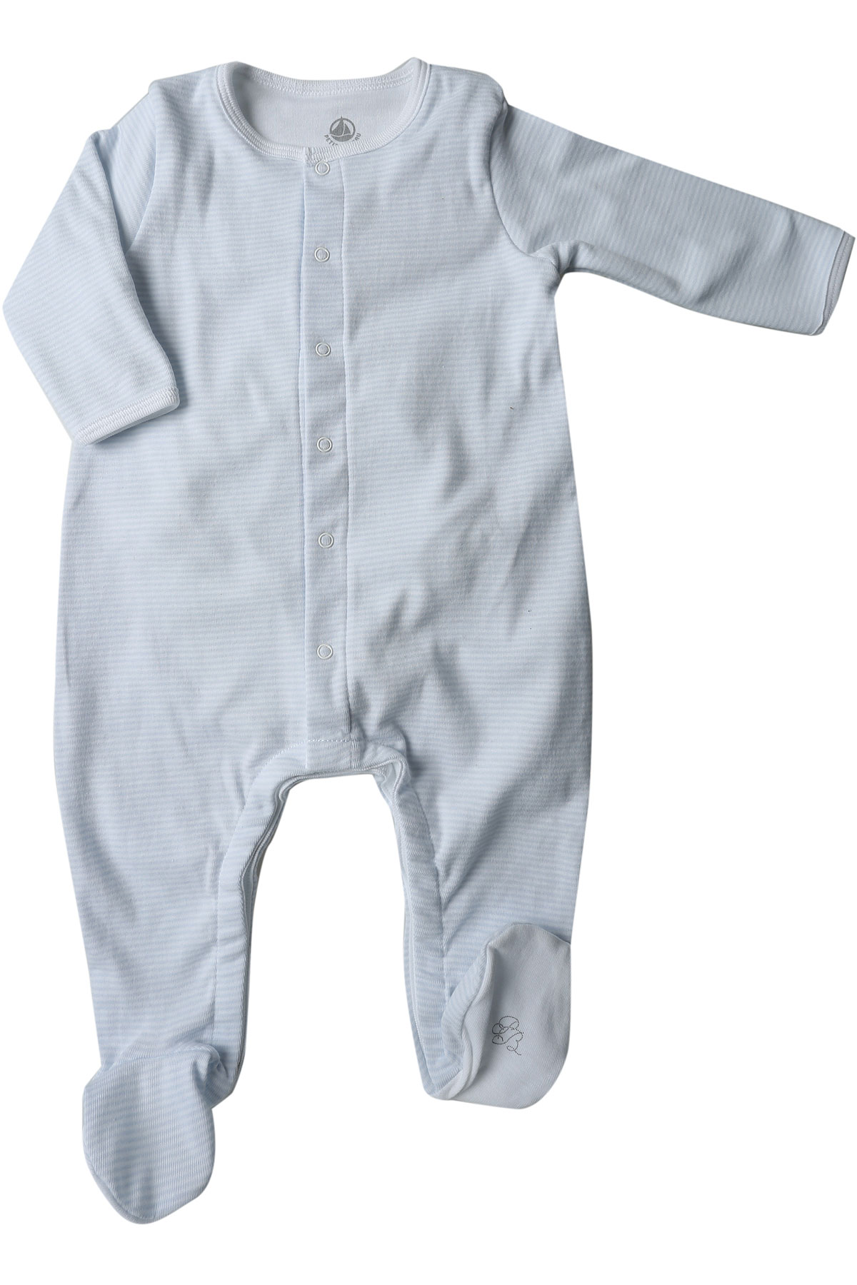 Petit Bateau Baby Bodysuits & Onesies for Boys, Sky Blue, Cotton, 2017, 1M 3M 6M USA-447881