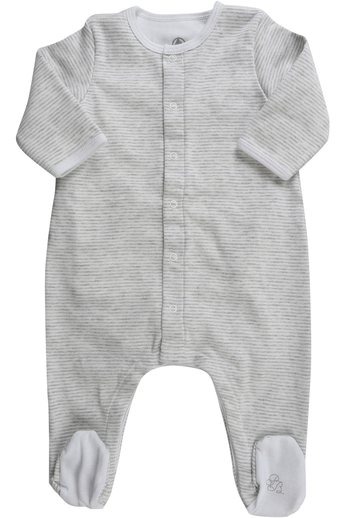 Image of Petit Bateau Baby Bodysuits & Onesies for Boys On Sale, White, Cotton, 2017, 1M 3M 6M
