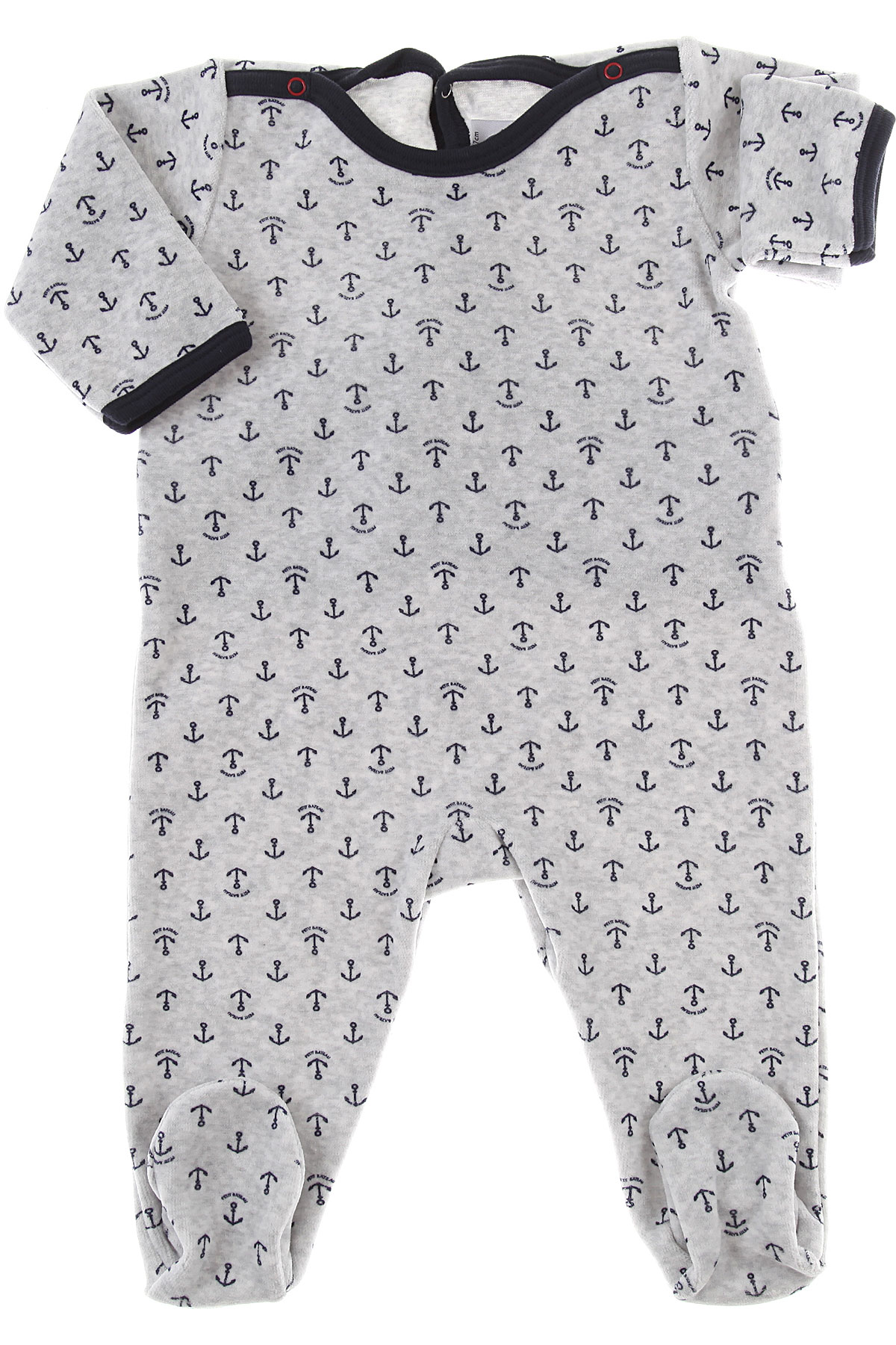 Image of Petit Bateau Suits, Grey, Cotton, 2017, 1M 3M 6M