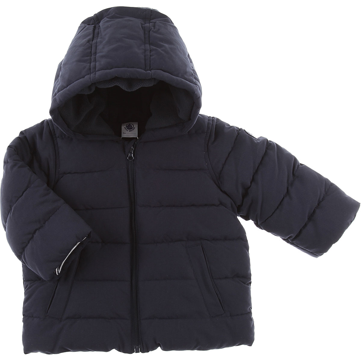 Image of Petit Bateau Baby Down Jacket for Boys, Blue, polyester, 2017, 12M 18M 6M