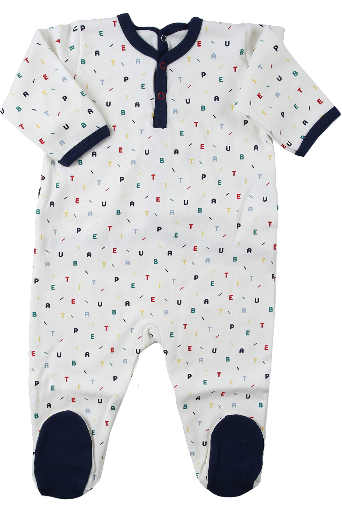Petit Bateau Baby Bodysuits & Onesies for Boys On Sale, White, Cotton, 2019, 3M 6M 9M