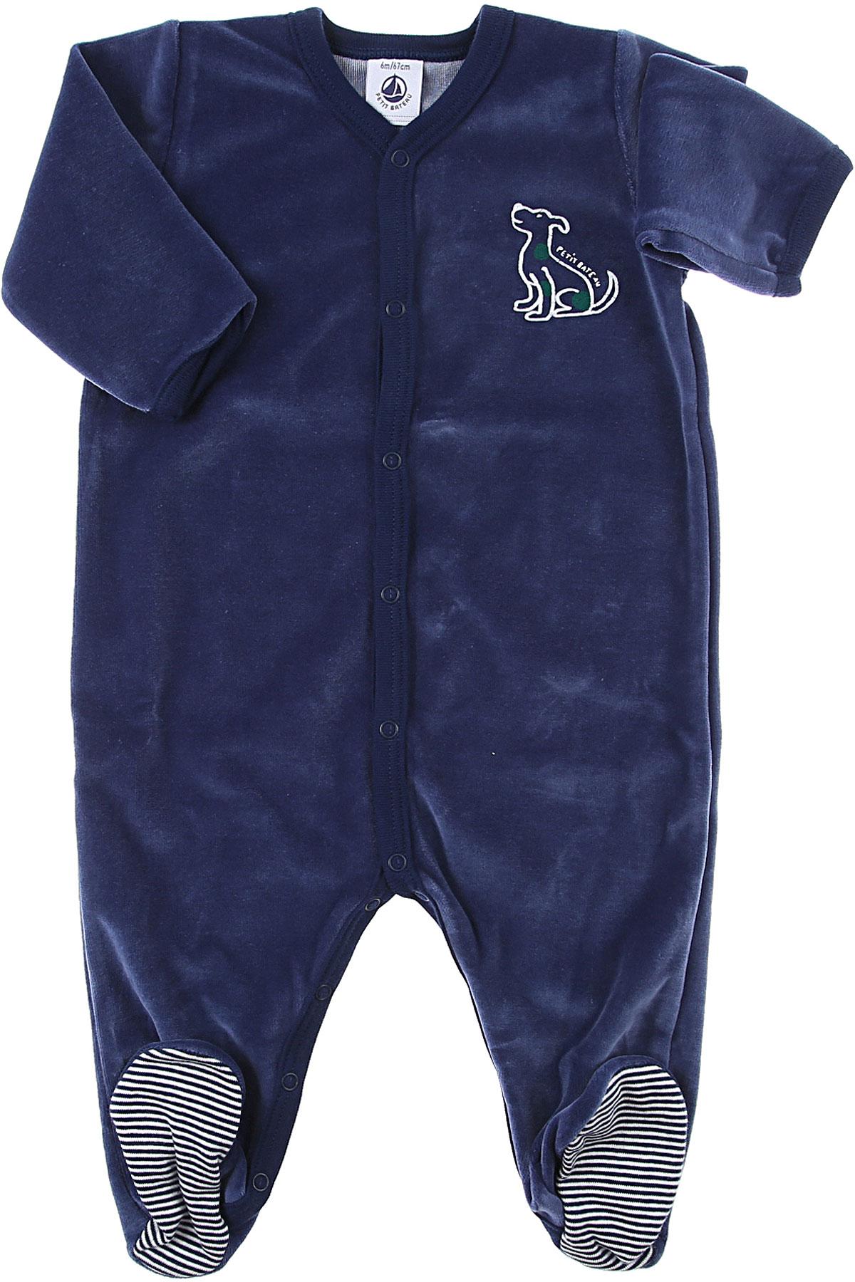 Petit Bateau Baby Bodysuits & Onesies for Boys On Sale, Blue, Cotton, 2019, 6M 9M