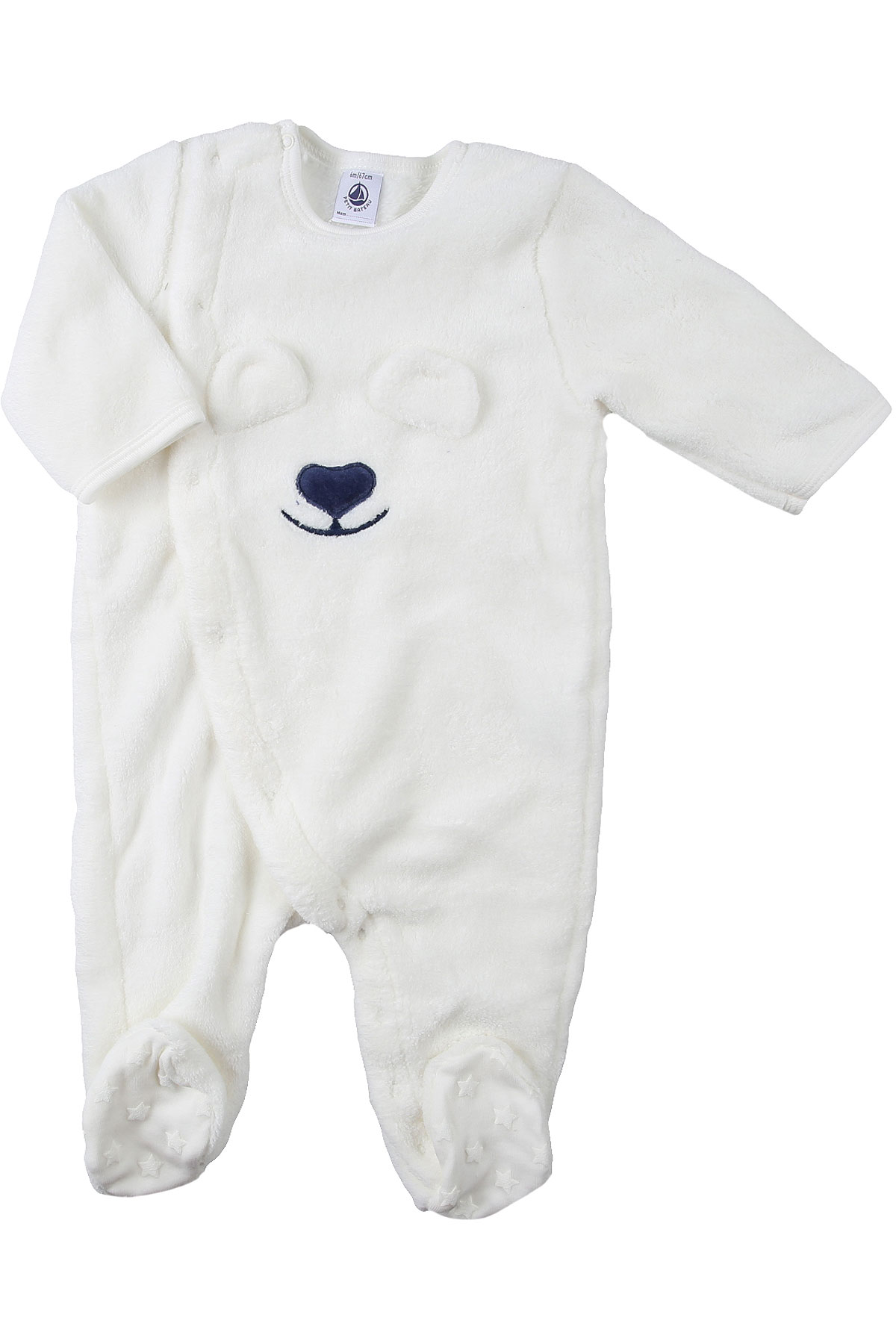 Petit Bateau Baby Bodysuits & Onesies for Boys On Sale, White, polyester, 2019, 3M 6M
