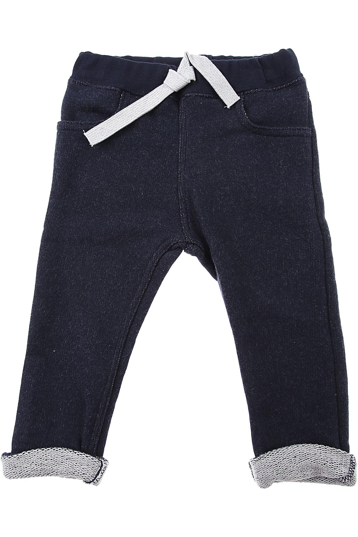 Petit Bateau Baby Pants for Boys On Sale, Blue Denim, Cotton, 2019, 18 M 6M
