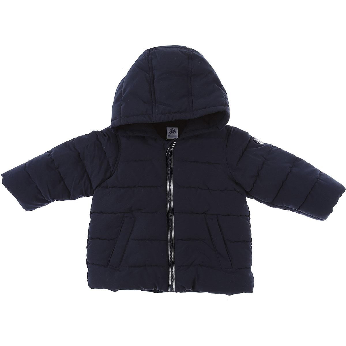 Petit Bateau Baby Down Jacket for Boys On Sale, Blue, Cotton, 2019, 18M 2Y 6M