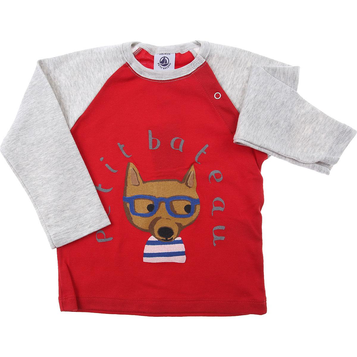 Petit Bateau Baby T-Shirt for Boys On Sale, Red, Cotton, 2019, 18M 6M