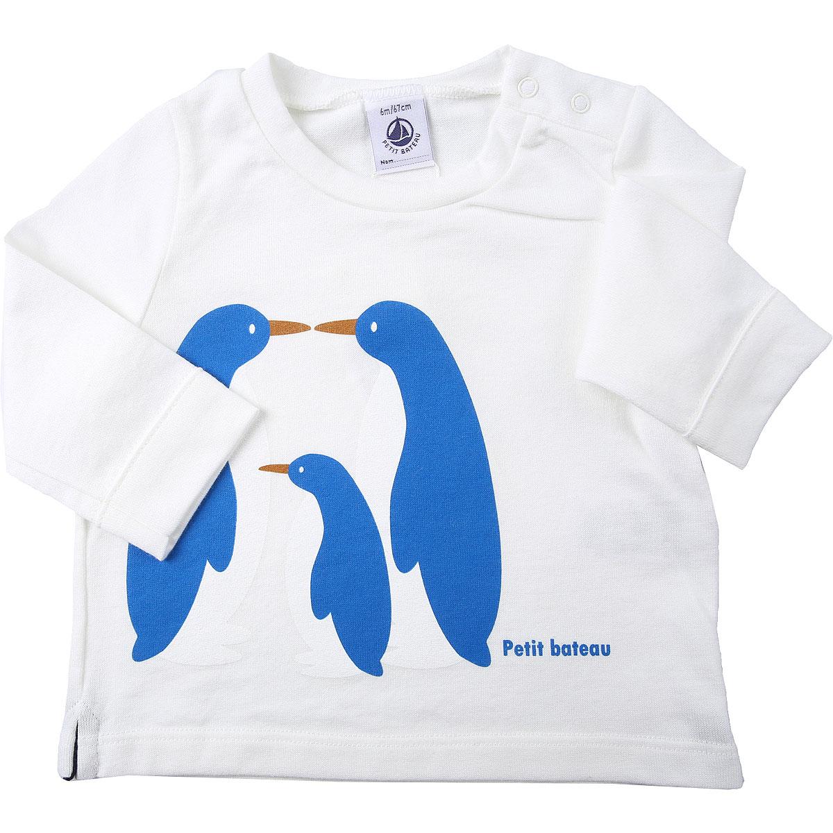 Petit Bateau Baby T-Shirt for Boys On Sale, Marshmallow, Cotton, 2019, 12 M 18M 2Y 6M