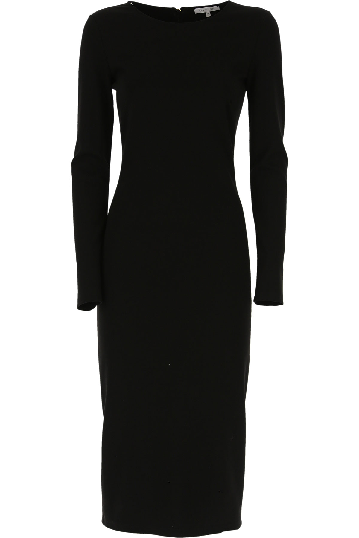 Patrizia Pepe Dress for Women, Evening Cocktail Party On Sale, Black, Viscose, 2019, 6 8