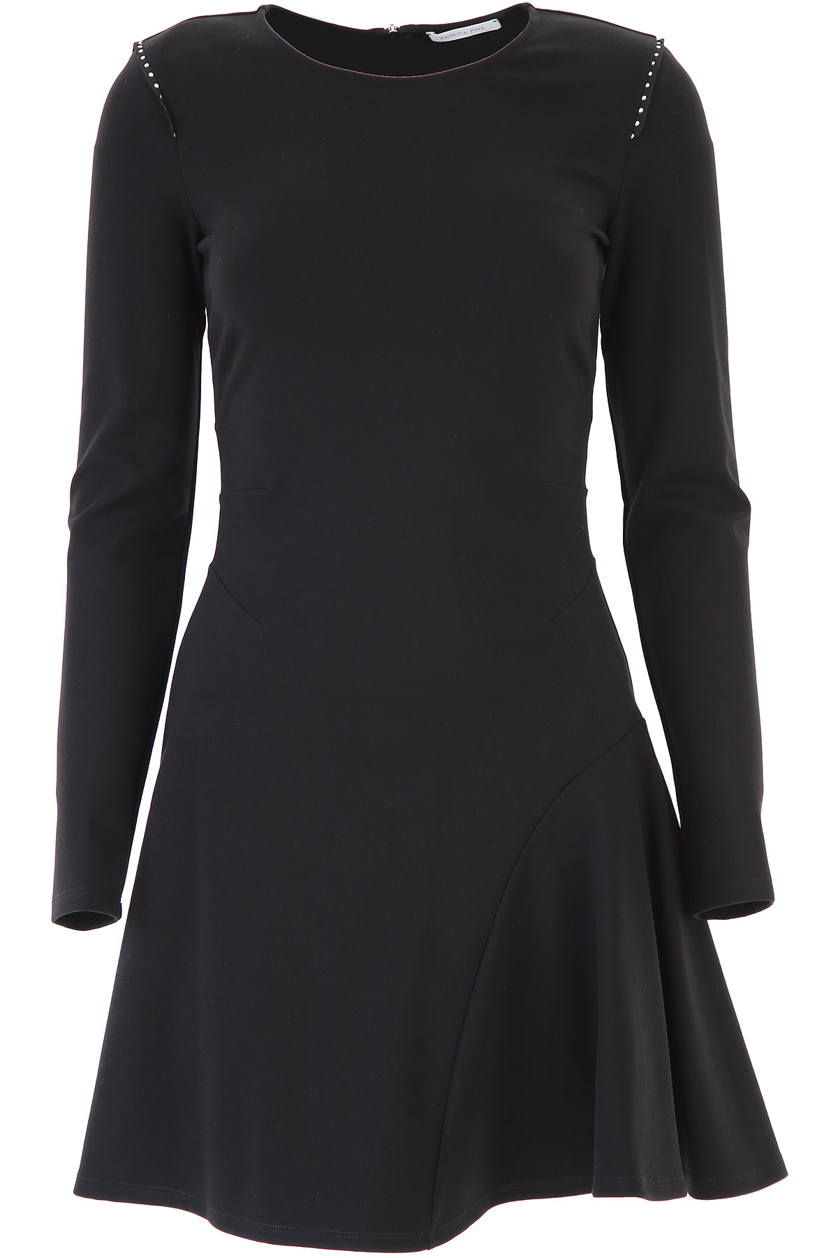 Patrizia Pepe Dress for Women, Evening Cocktail Party On Sale, Black, Viscose, 2019, 10 2 4 8