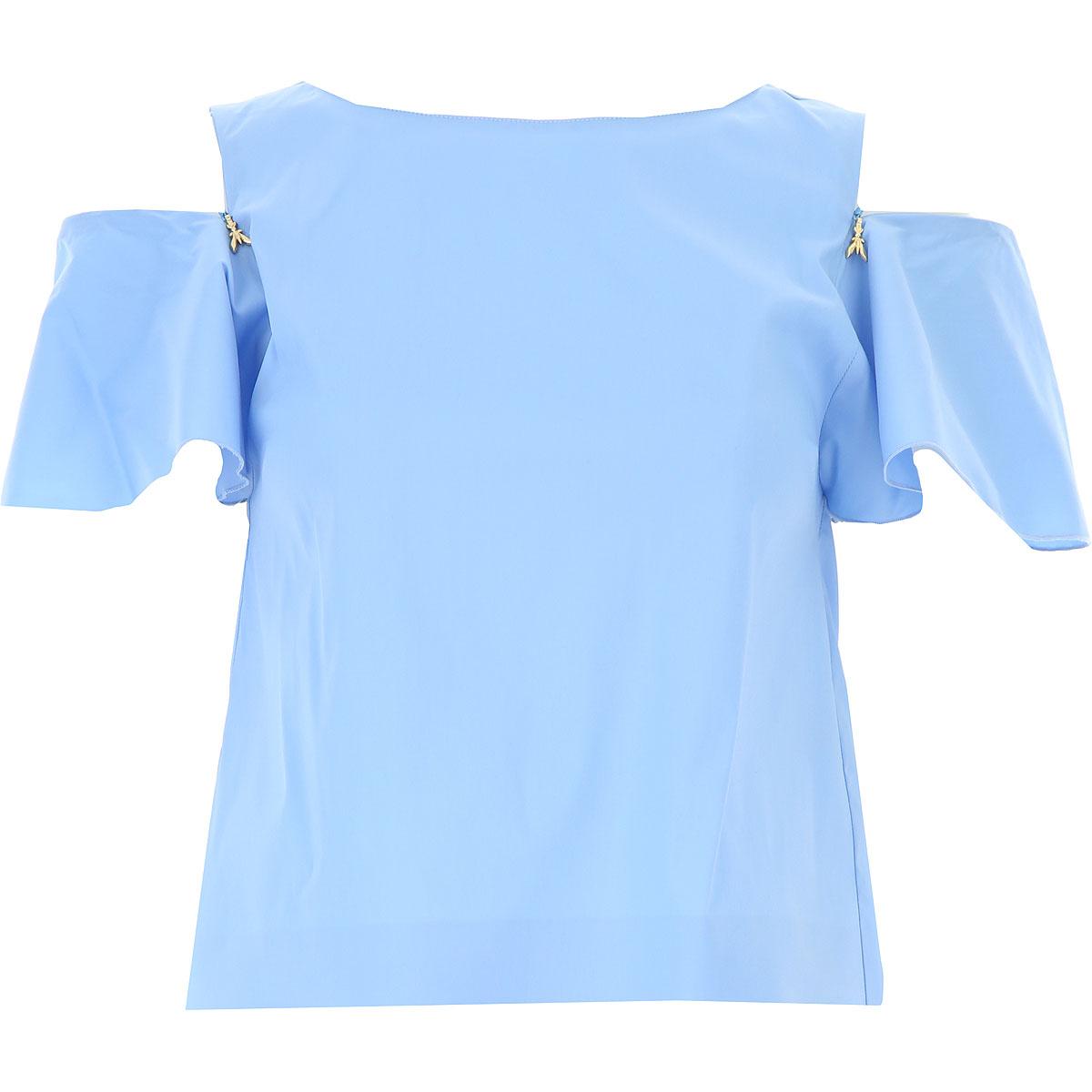 Patrizia Pepe Top for Women, Cosmic Blue, Cotton, 2017, 4 6 8