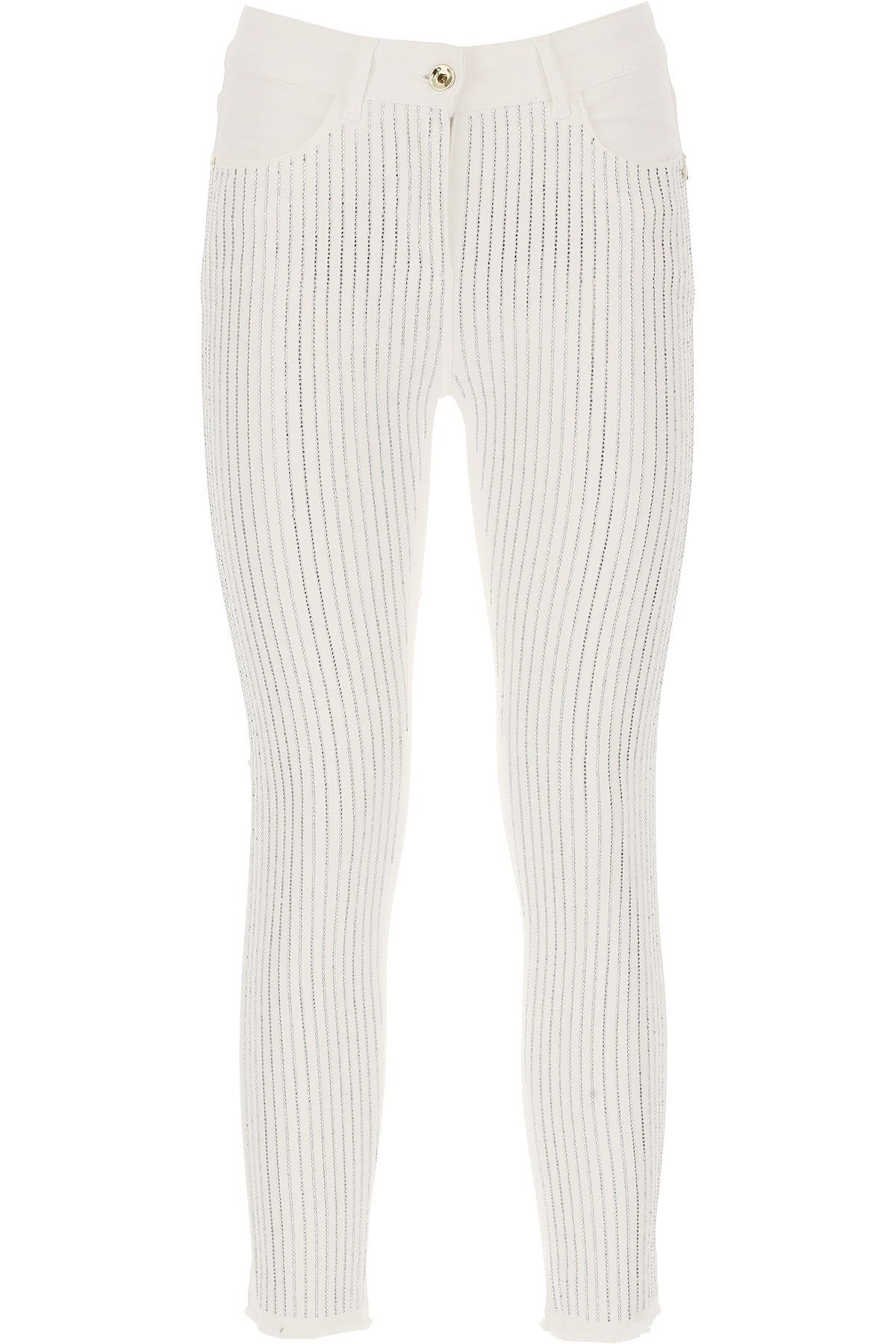 Patrizia Pepe Jeans, White, Cotton, 2017, 26 27 28 29 30