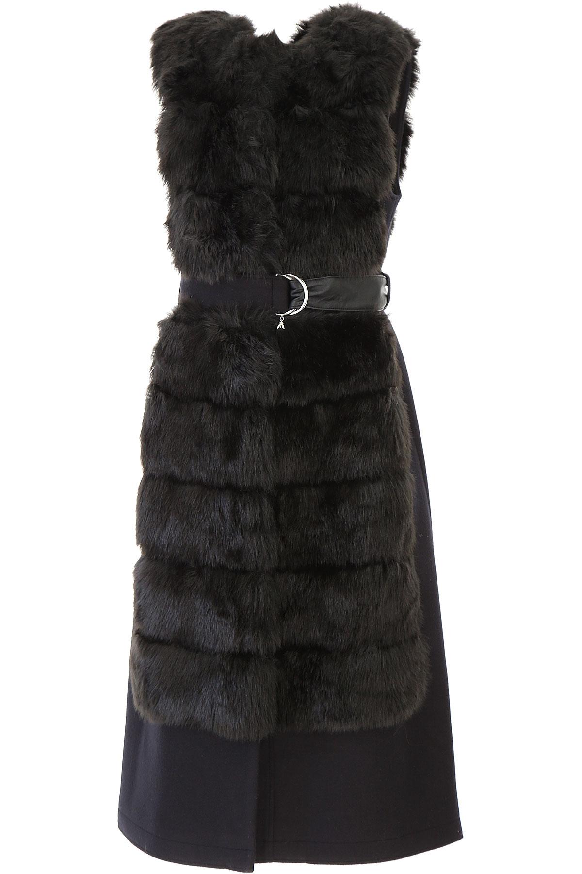 Patrizia Pepe Jacket for Women On Sale, Black, acetate, 2019, 4 6