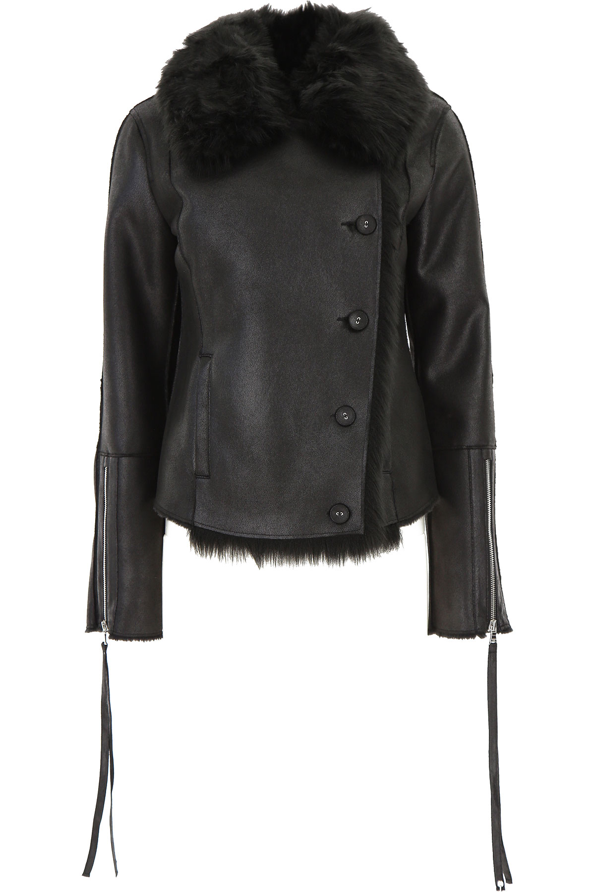 Patrizia Pepe Jacket for Women On Sale, Black, polyester, 2019, 4 8