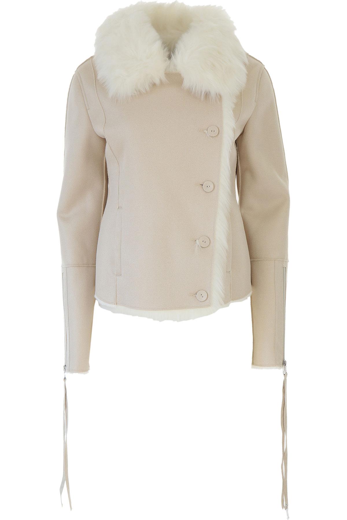 Patrizia Pepe Jacket for Women On Sale, Natural, polyurethane, 2019, 4 8