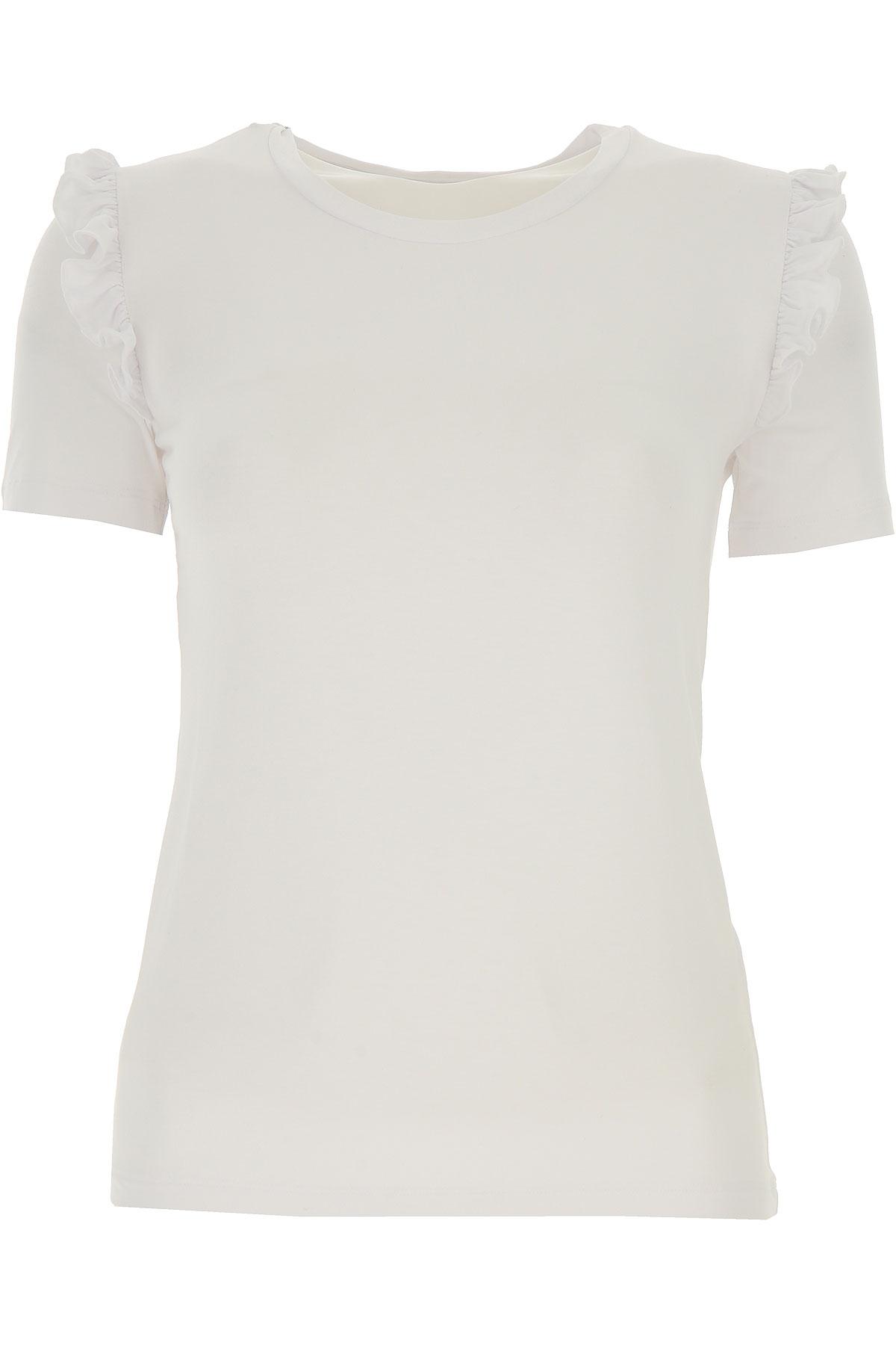Patrizia Pepe T-shirt Femme, Blanc, Viscose, 2017, 1a -- Eu 38/40 2a -- Eu 40/42 3a -- Eu 42/44