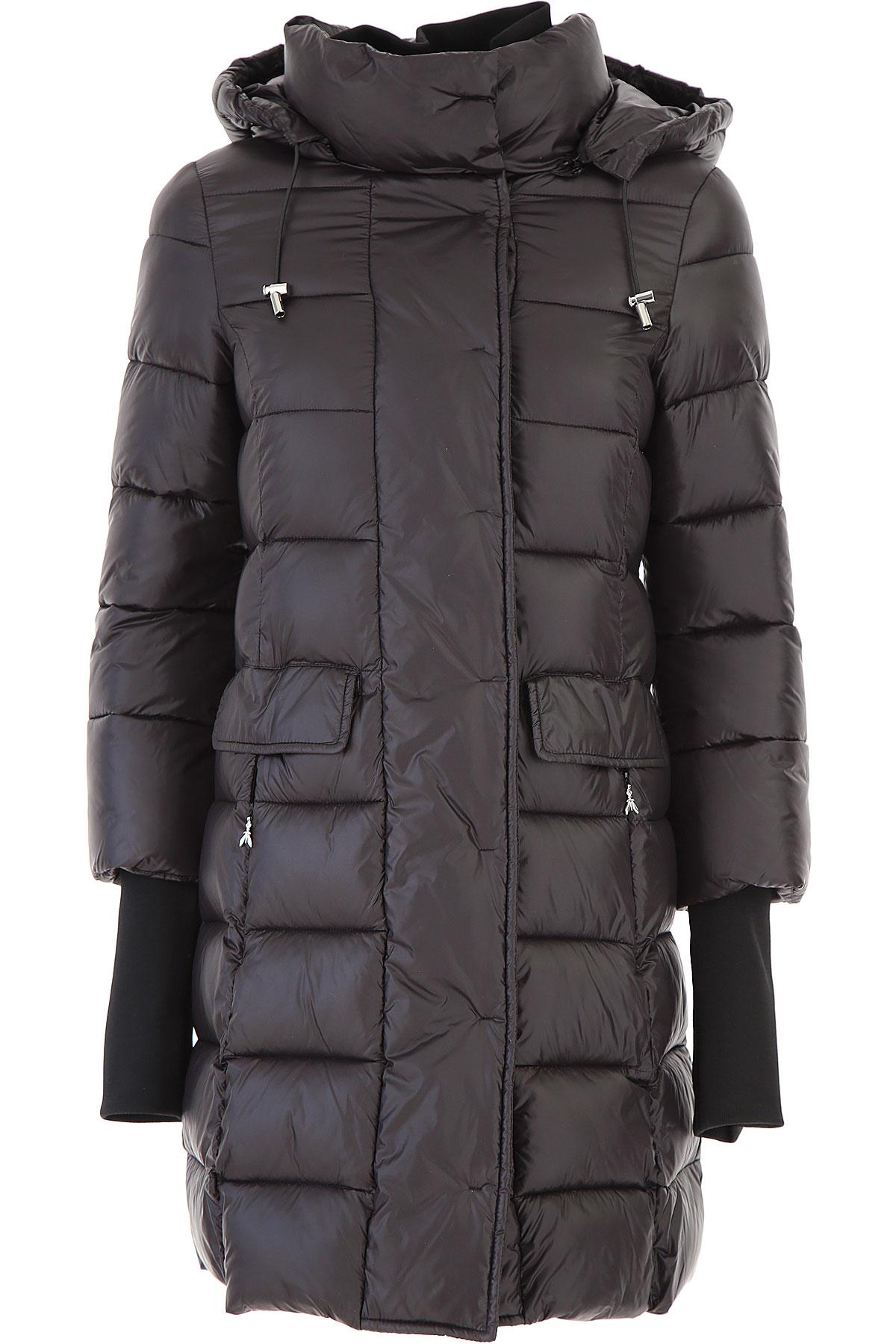 Patrizia Pepe Jacket for Women On Sale, Black, polyamide, 2019, 10 6 8