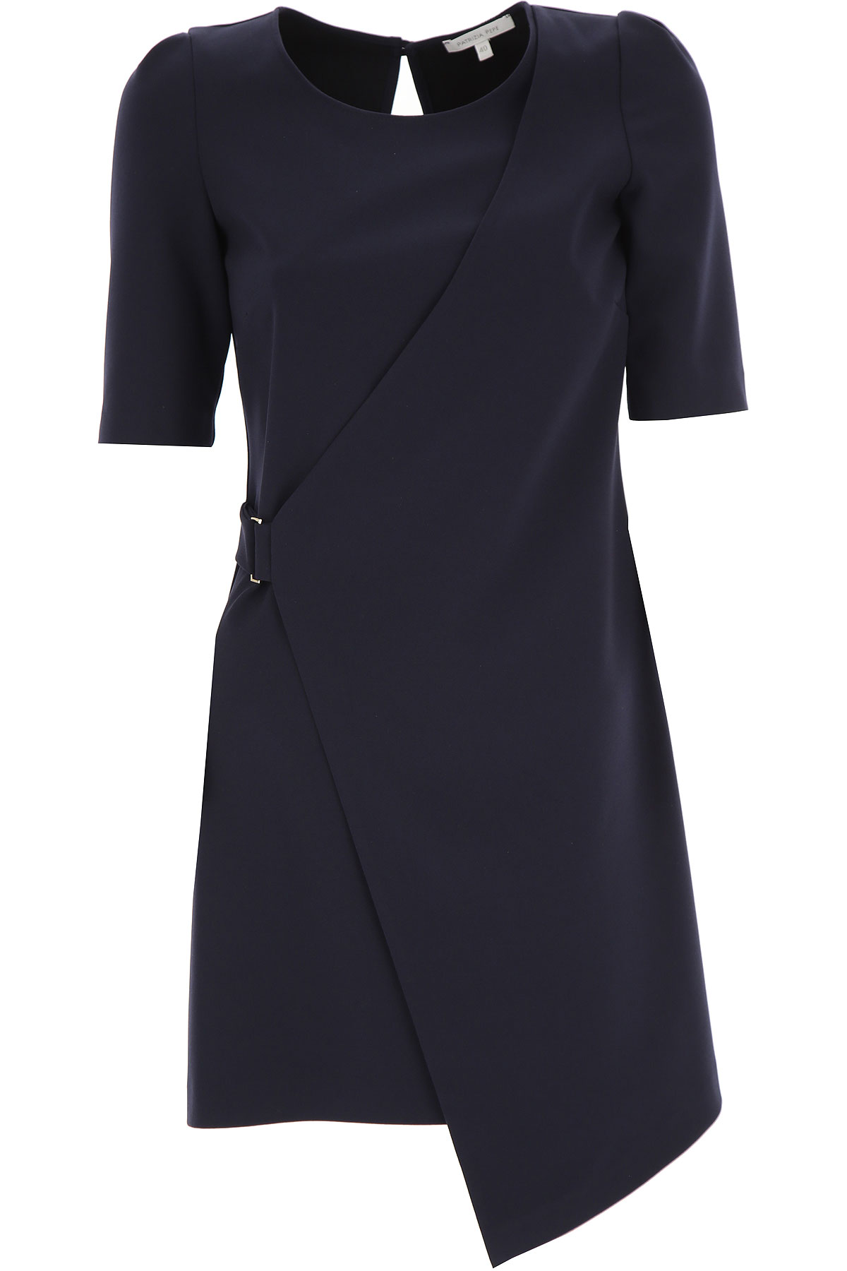 Patrizia Pepe Dress for Women, Evening Cocktail Party On Sale in Outlet, Dress Blue, polyester, 2019, 12 8